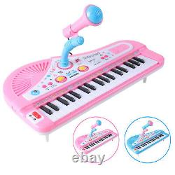 37 Key Kids Electronic Keyboard Toddlers Piano Musical Toy + Mic 24 Demo Songs
