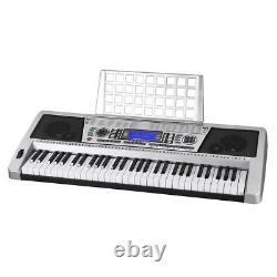 61 Key Electric Piano Music Digital Keyboard LCD Display 110V/Batteries