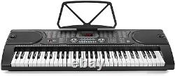 61-Key Electronic Piano Electric Organ Music Keyboard with Stand, Microphone
