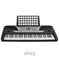 61 Key Music Electric Keyboard Digital Piano Beginner Organ with Stand Talent Gift