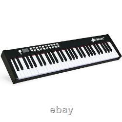 61 Key Music Electronic Keyboard Electric Digital Piano Organ With Pedal & Bag