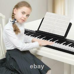 88 Key Digital Piano MIDI Keyboard with Pedal and Bag Music Instrument White Black