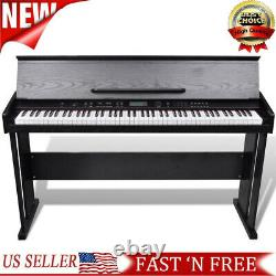 88-Key Electronic Keyboard Portable Digital Music Piano with Music Stand Classic