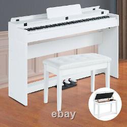 88 Key Music Keyboard Piano 3 Pedal Board Electric Digital LCD Professional Gift