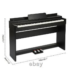 88 Key Music Keyboard Piano Electric Digital LCD WithStand Adapter 3 Pedal Board