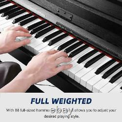 88 Key Music Keyboard Piano WithStand Adapter 3 Pedal Board Electric With Bench US