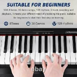88 weighted Keys Digital Music Piano Keyboard Electronic Instrument With Bench New