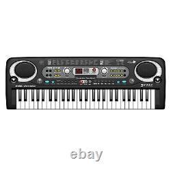 ABS Piano Keyboard 54-key Electric Digital Music Keyboard for Beginners USB