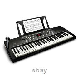 Alesis 54 Key Electric Keyboard/Piano with Built-In Speakers/Microphone/Music Rest