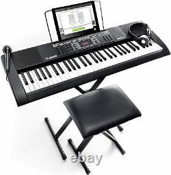 Alesis Melody 61 MKII 61 Key Music Keyboard / Digital Piano, Stand & Stool
