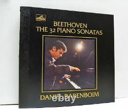 BARENBOIM beethoven the 32 piano sonatas 12 X LP BOX EX+/EX, SLS 794/12, vinyl