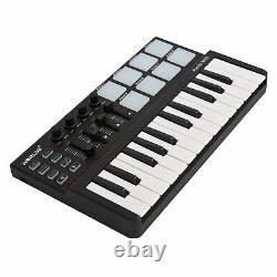 Beat & Music Maker DJ Piano USB MIDI Drum Pad & Keyboard Controller 25 Key NEW