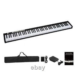 Black 88 Key Digital Piano Keyboard with Pedal and Bag Music Instrument Home