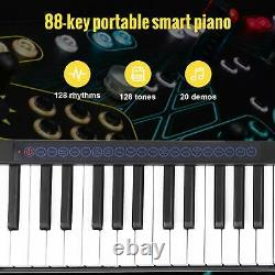 Black 88 Key Digital Piano MIDI Keyboard with Pedal and Bag Music Instrument White