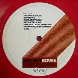 DAVID BOWIE iSELECT RED Vinyl Ltd LP NEW BOWIE is Brooklyn Museum RARE