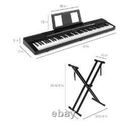 Digital Keyboard Piano 88 Key W Stand Set Semi Weighted Keys Sustain Pedal Music