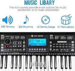 Digital Music Piano 61-Key Keyboard Portable Electronic Musical Instrument US