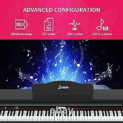 Digital Piano 88 Keys Electric Keyboard Piano withMusic Stand for Beginner