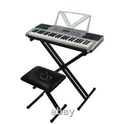 Digital Piano Keyboard 54 Key Portable Electronic Musical Instrument With Stand
