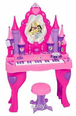 Disney Princess Piano Keyboard Musical Vanity Beauty Salon Interactive Girls Toy