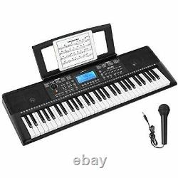 Donner Electronic Keyboard Piano 61 Key Digital Piano with Sheet Music Stand and
