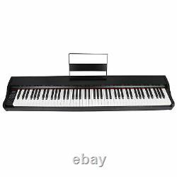 Electronic 88 Keys Keyboard Digital Piano with Foot Pedal Music Stand Training