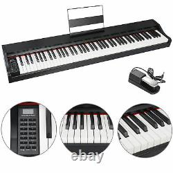 Electronic 88 Keys Keyboard Piano with Foot Pedal Music Stand Practice Indoor