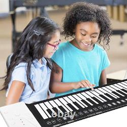 Electronic Piano Keyboard Roll Portable Flexible Fold Music Midi Decals Stickers