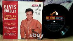 Elvis ARGENTINA Viva Las Vegas 1964 33 rpm PICTURE SLEEVE EP! AMOR EN LAS VEGAS