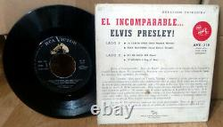 Elvis URUGUAY AVE-318 El Incomparable 45 RPM PS EP Rock'n'Roll THICK HARD COVER
