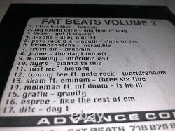 Fat Beats Volume Three (Super RARE) ONLY ONE SELLING ONLINE FEATURING MF DOOM