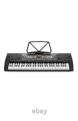 Hamzer 61-Key Electronic Keyboard Portable Digital Music Piano with H Stand, Seat