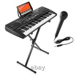 Hamzer 61-Key Electronic Piano Electric Organ Music Keyboard With Stand, Microph