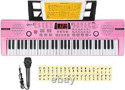 Hricane Kids Piano Keyboard, 61 Keys Beginner Electronic Keyboard Portable Music