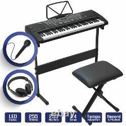 Keyboard Piano Music Digital Electronic 61Key Electric Microphone Headphone Gift