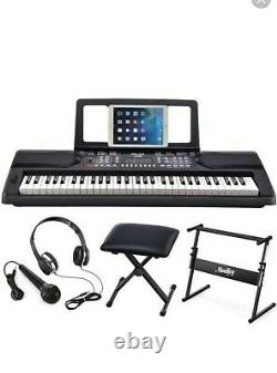 MEK-200 Electric Keyboard Portable Piano Keyboard Music Kit with Stand