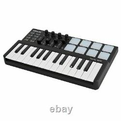 Mini Piano with Drum Pad USB 25 Key Keyboard Portable Plastic Musical Instrument