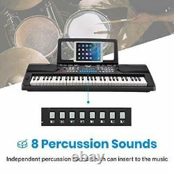 Moukey MEK-200 Electric Keyboard Portable Piano Keyboard Music Kit with Stand