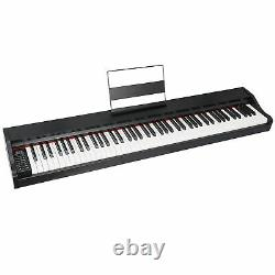 Music Electronic Keyboard Electric Digital Piano 88 Key Black with Speakers