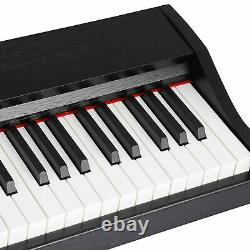 Music Electronic Keyboard Electric Digital Piano Black with Speakers 88 Key