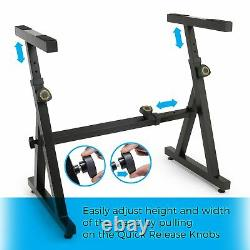 Piano Keyboard Stand Adjustable Heavy Duty Music Stand for Kids and Adults