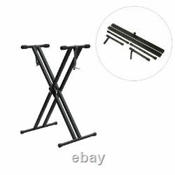 Piano Keyboard Stand Universal Music Instrument Holder Rack Adjustable Accessory