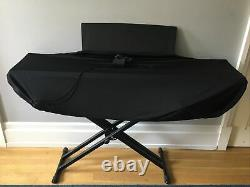 Piano Keyboard Yamaha P105 88 Key with Stand, Music Stand, Foot Pedal, And Cover