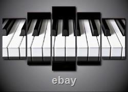 Piano Keys Keyboard Music 5 Pieces canvas Wall Art Picture Gift Home Decor