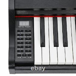 Portable Electronic 88 Keys Keyboard Piano with Foot Pedal Music Stand Practice