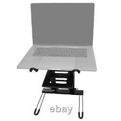 Portable Piano Keyboard Music DJ Adjustable Padded Gig Chair Seat + Laptop Stand