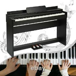 Pro 88 Key LCD Electric Digital Piano 3 Pedal Music Keyboard Full Size Weight