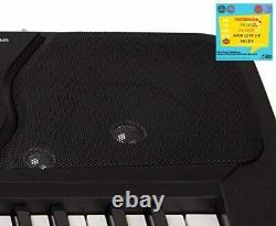 RockJam 54-Key Portable Electric Keyboard Piano Key Sticker Sheet Music Beginner