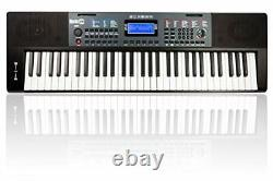 RockJam RJ461 61 Key Keyboard Piano with pitch bend Sheet Music Stand Piano Note