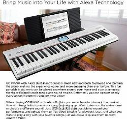 Roland GOPIANO 61-key Music Creation Keyboard with Alexa built-in Go-61P-A